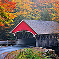 The Flume Covered Bridge by Thomas Schoeller