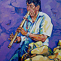 The Flute Player by Derrick Higgins