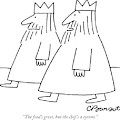 The Food's Great by Charles Barsotti