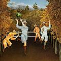 The Football Players 1877 by Henri Rousseau