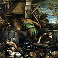 The Forge Of Vulcan by Jacopo Bassano