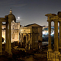 The Forum Temples At Night by Weston Westmoreland