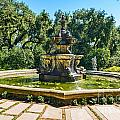 The Fountain - Iconic Fountain At The Huntington Library. by Jamie Pham