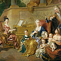 The Franqueville Family, 1711 Oil On Canvas by Francois de Troy