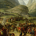 The French Army Travelling Over The St. Bernard Pass At Bourg St. Pierre, 20th May 1800, 1806 Oil by Charles Thevenin