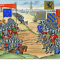 The French Defeat The Flemish by Mary Evans Picture Library