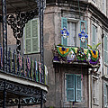 The French Quarter During Mardi Gras by Mountain Dreams