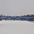 The Frozen Schuylkill And Strawberry Mansion Bridge by Bill Cannon