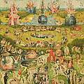 The Garden Of Earthly Delights Allegory Of Luxury, Central Panel Of Triptych, C.1500 Oil On Panel by Hieronymus Bosch