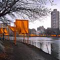 The Gates - Central Park New York - Harlem Meer by Gary Heller