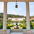 The Getty Villa Main Courtyard View From Covered Walkway. by Jamie Pham