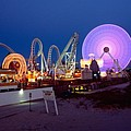The Giant Wheel At Night  by George Oze