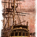 The Gleaming Hull Of The Hms Bounty by Debra and Dave Vanderlaan