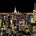 The Glow Of The New York City Skyline by Dan Sproul