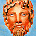 The God Jupiter Or Zeus.  by Augusta Stylianou
