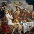 The Golden Apple Of Discord by Jacob Jordaens