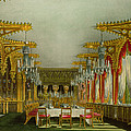The Gothic Dining Room At Carlton House by Charles Wild