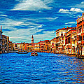 The Grand Canal Impasto by Steve Harrington