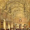 The Grand Hall, Biddington, Surrey by Joseph Nash
