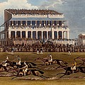 The Grand Stand At Epsom Races, Print by James Pollard