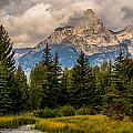 Sun Rises On The Tetons by Yeates Photography