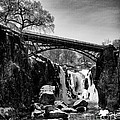 The Great Falls Of Paterson In Black And White by Mark Miller