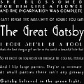 The Great Gatsby Quotes by Georgia Fowler