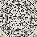 The Great Magic Circle Of Agrippa For The Evocation Of Demons by Italian School