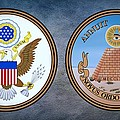 The Great Seal Of The United States Obverse And Reverse by Movie Poster Prints
