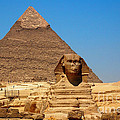 The Great Sphinx Of Giza And Pyramid Of Khafre by Joe  Ng