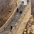 The Great Wall Of China At Badaling - 9 - A Close Up  by Hany J