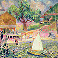 The Green Beach Cottage by William James Glackens
