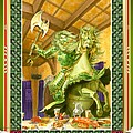 The Green Knight Christmas Card by Melissa A Benson