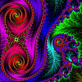The Green Leaf Fractal by Mary Machare