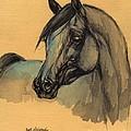 The Grey Arabian Horse 1 by Angel Ciesniarska
