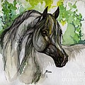 The Grey Horse Drawing by Angel Ciesniarska