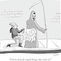 The Grim Reaper Speaks As A  Teenager Spray by Farley Katz