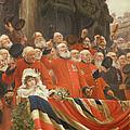 The Guards Cheer, 1898 by Sir Hubert von Herkomer