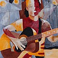 The Guitar Player by Barbara Moak