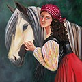 The Gypsy's Vanner Horse by Lora Duguay