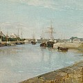 The Harbour At Lorient by Berthe Morisot