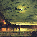 The Harbour Flare by John Atkinson Grimshaw