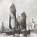 The Herring Fleet, Scarborough by Ken Welsh