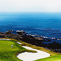 The Hole 7 At Pebble Beach Golf Links by Don Kuing