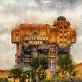 The Hollywood Tower Hotel Disneyland Photo Art 02 by Thomas Woolworth