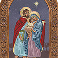 The Holy Family For The Holy Family Hospital Of Bethlehem With Frame by William Hart McNichols