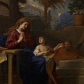 The Holy Family In Egypt by Charles Le Brun