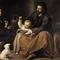 The Holy Family With Dog by Bartolome Esteban Murillo