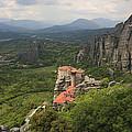The Holy Monastery Of Rousanou Meteora Greece  by Ivan Pendjakov