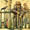 The Honest Thief 02 Illustration For Book By Dostoevsky by Kestutis Kasparavicius